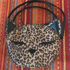Leopard Print Cute Cat Face Bag